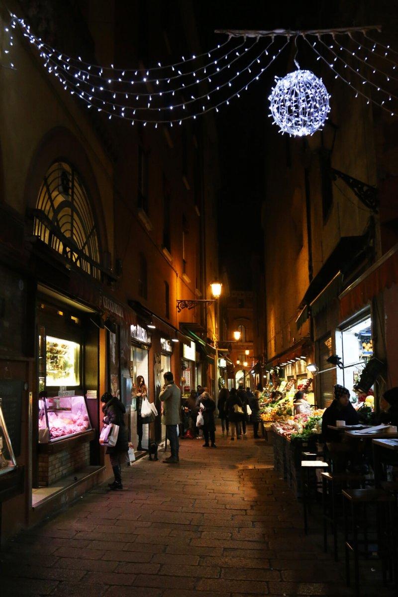 Luminarie Bologna_via degli Orefici