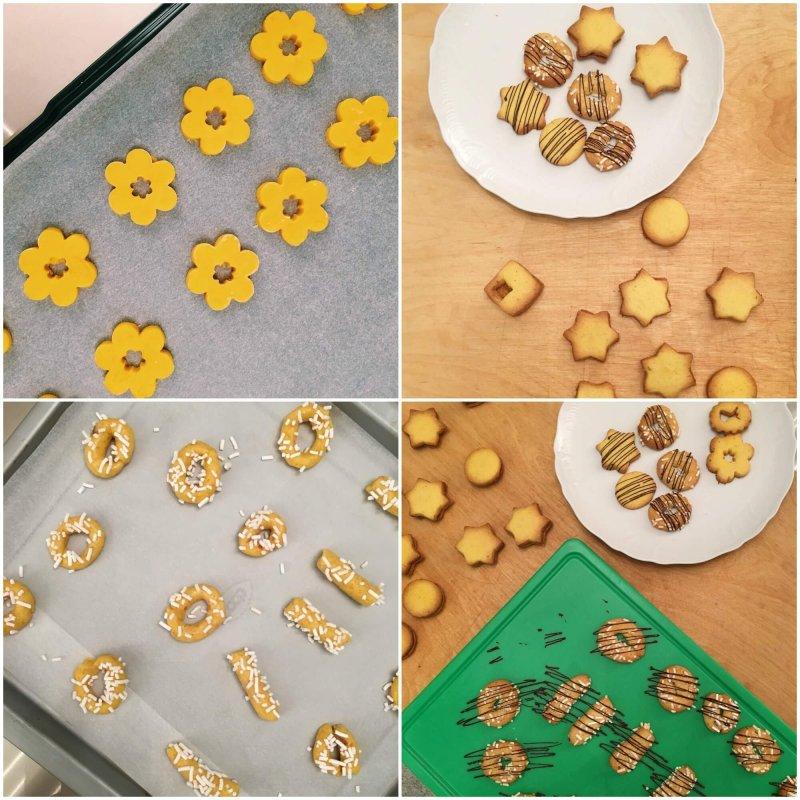 Collage biscotti Otto in cucina