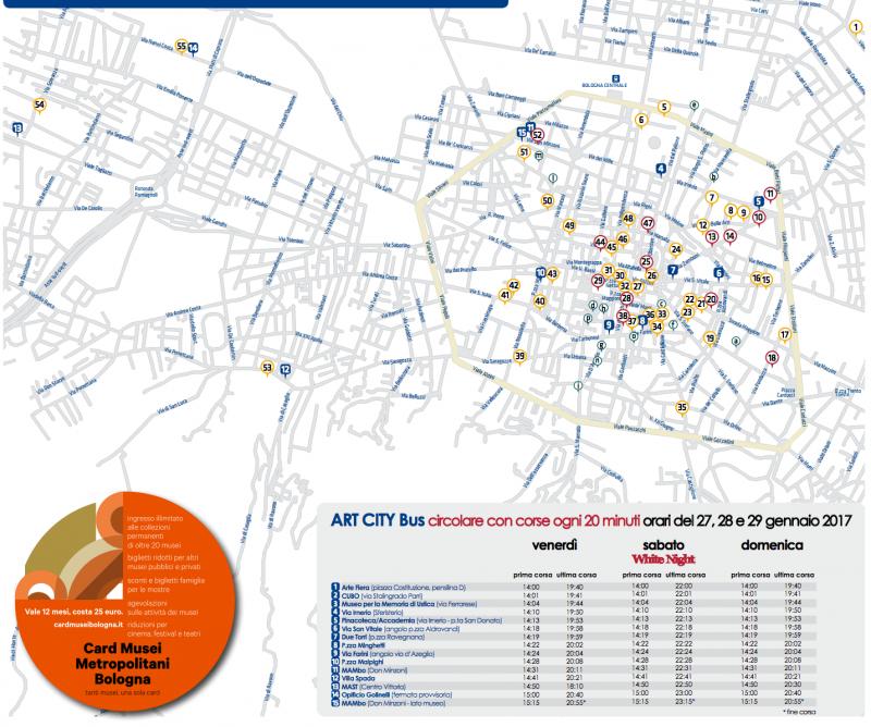 Mappa Art City ArteFiera Bologna