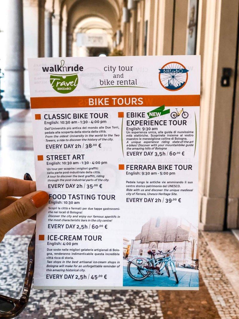 Bike tours bologna